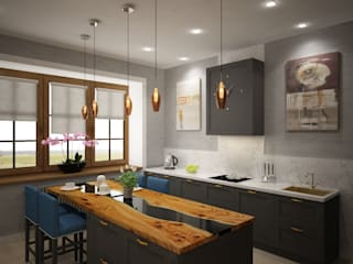 Минимализм в загородном доме. Кухня в стиле минимализм от Студия дизайна 'СИМФОНИЯ' Минимализм