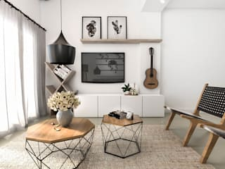 Scandinavian style living room by Bhavana Scandinavian