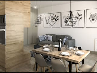 GACKOWSKA DESIGN Modern dining room Grey