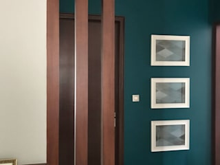 The Modern Vibrance- home interiors Modern corridor, hallway & stairs by The Mystique Interiors Modern