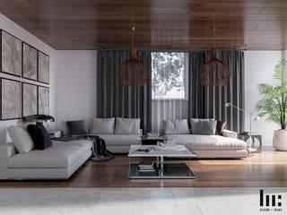 Vila Vizuett Salones minimalistas de HC Arquitecto Minimalista