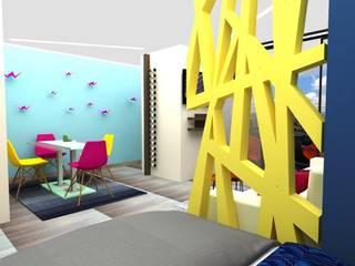 Adamant studio de D8 Diseño de Interiores Ecléctico