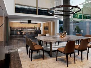 Comedor y Cocina Cocinas de estilo minimalista de HC Arquitecto Minimalista