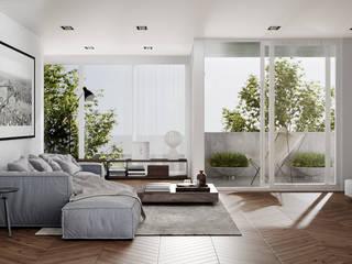 Recamara Principal Cuartos de estilo minimalista de HC Arquitecto Minimalista