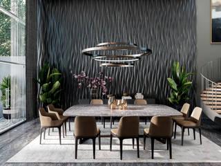 Casa Quiroz Comedores minimalistas de HC Arquitecto Minimalista