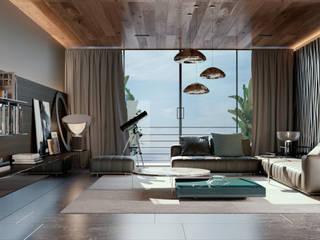 Apartamento 407 Salones minimalistas de HC Arquitecto Minimalista