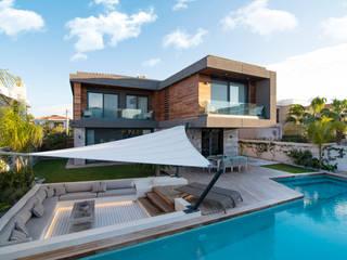 Başak Akkoyunlu Design – Villa Duo:  tarz Teras, Modern