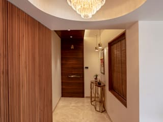That Contemporary Apartment Modern corridor, hallway & stairs by Milind Pai - Architects & Interior Designers Modern