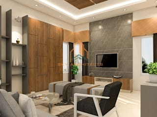 recent interior designing project coimbatore:  Living room by Sky architects,Classic