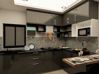 recent interior designing project coimbatore:  Kitchen units by Sky architects,Classic