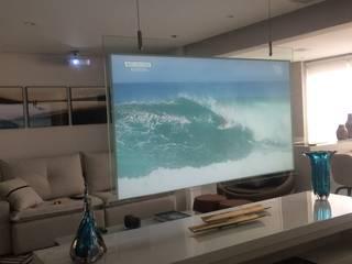 Salas de estar modernas por F2 HOME ÁUDIO, VÍDEO E AUTOMAÇÃO Moderno