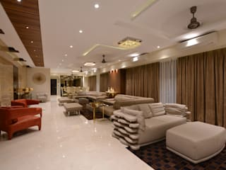 Luxurious Panaroma Modern living room by Milind Pai - Architects & Interior Designers Modern