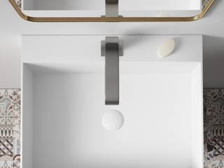 Baños de estilo moderno de Solid Surface Spagna Moderno