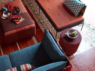 de Sunbrella Moderno Textil Ámbar/Dorado