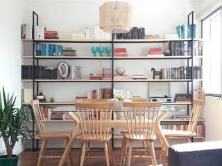 Bibliiteca BA:  de estilo industrial por Muebles Hierr○Design, Industrial