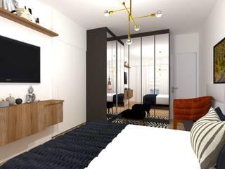 Suite casal Talita Kvian Quartos modernos Preto