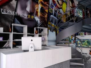 Remodelación de Bar Gamer TexStation en Estado de México Bares y clubs de estilo moderno de GA Experimental Moderno