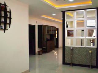 Gachibowli Eclectic style corridor, hallway & stairs by Zeroth Habitats Eclectic