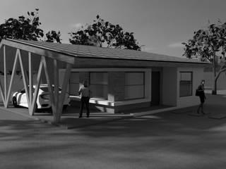 Casas con Geometría Solar Tipo Mediterránea 60m2:  de estilo  por QuimeraWorks,