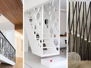 Nhà phố tinh tế:  Stairs by Nguyen Hung Architects, Modern