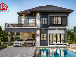 บ้านพักอาศัย2ชั้น โดย บริษัท 159 เอ็นจิเนียริ่ง จำกัด โมเดิร์น