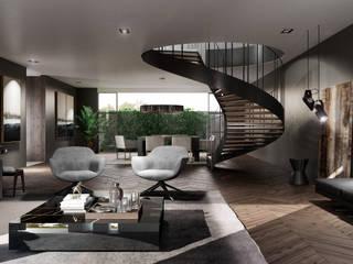 CS 300 Salones minimalistas de HC Arquitecto Minimalista