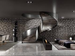 CS 250 Salones minimalistas de HC Arquitecto Minimalista