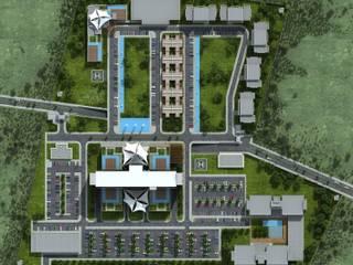 ms mimarlık – Cezayir VIP Hospital Atlas Group:  tarz Hastaneler, Modern