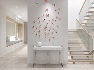 Total Environment Modern Corridor, Hallway and Staircase by De Panache - Interior Architects Modern