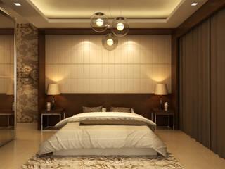 Mantri Espana:  Bedroom by De Panache ,Rustic