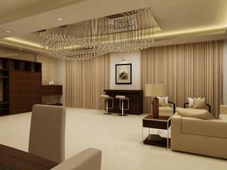 Mantri Espana:  Living room by De Panache ,Modern
