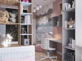 Дизайн проект трехкомнатной квартиры в ЖК Барселона Детские комната в эклектичном стиле от Студия дизайна Кристины Артебякиной Эклектичный
