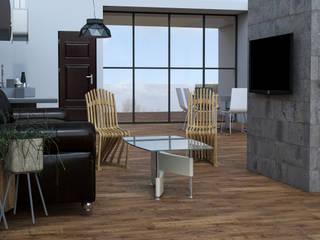 AR216 Salas de estilo industrial Madera Acabado en madera