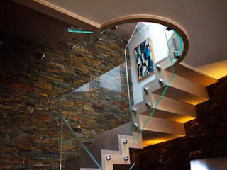 Timber & Glass Staircase by Camel Glass Modern