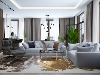Minimalist living room by Инна Азорская Minimalist