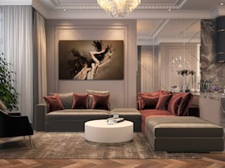 Colonial style living room by Инна Азорская Colonial