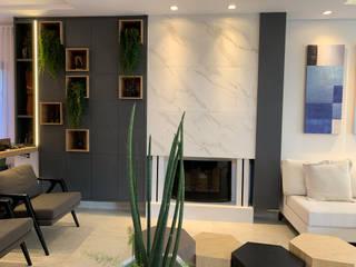 Ruang Keluarga Gaya Eklektik Oleh D'Sapê - Arquitetura e Interiores Eklektik