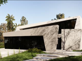 ESTILO MODERNO DE VANGUARDIA: Casas de estilo  por Maximiliano Lago Arquitectura - Estudio Azteca,