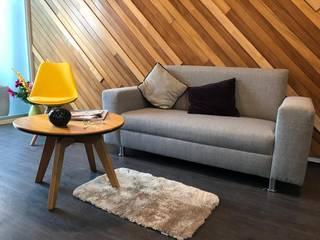 Ideas Arquitectónicas Modern living room Wood Multicolored