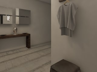 Renderizado 3D Virtual Real Pasillos, vestíbulos y escaleras de estilo moderno de Arkiline Arquitectura Optativa Moderno