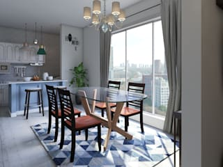 Renderizado 3D Virtual Real Comedores de estilo moderno de Arkiline Arquitectura Optativa Moderno