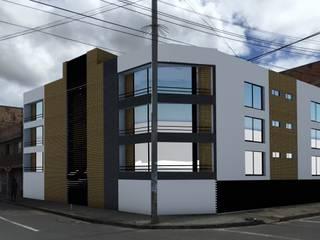 MULTIFAMILIAR CUEVAS 1: Casas multifamiliares de estilo  por FENIXARQ., Moderno