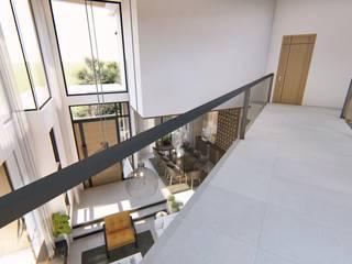 Corredores, halls e escadas modernos por Structura Architects Moderno
