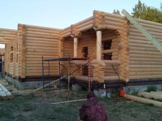 Сказочный дом из оцилиндрованного бревна. от СК РРК Классический