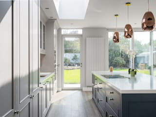 Contemporary Rear Extension Project Marvin Windows and Doors UK KitchenCabinets & shelves