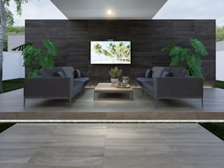 Modern garden by Interceramic MX Modern