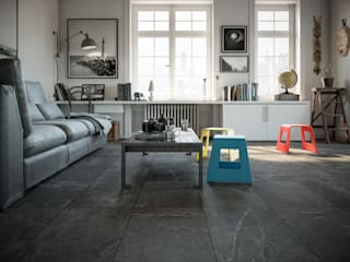 Industrial style living room by Interceramic MX Industrial