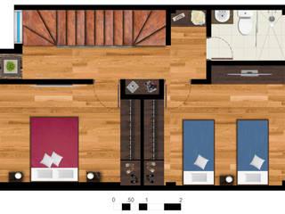 Reserva el Lago Habitaciones modernas de PLASS Arquitectura & Construcción Moderno
