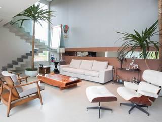Residência T|D Salas de estar modernas por Marcos Baldasso Arquitetura Moderno
