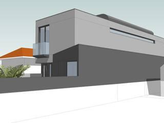 Moradia Estamparia de Lavadores: Moradias  por Diogo Assunção Arquitecto,Moderno
